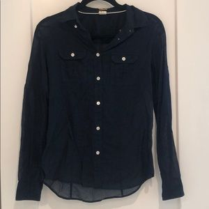 J.Crew - Small Slim Fit - Navy Button Down